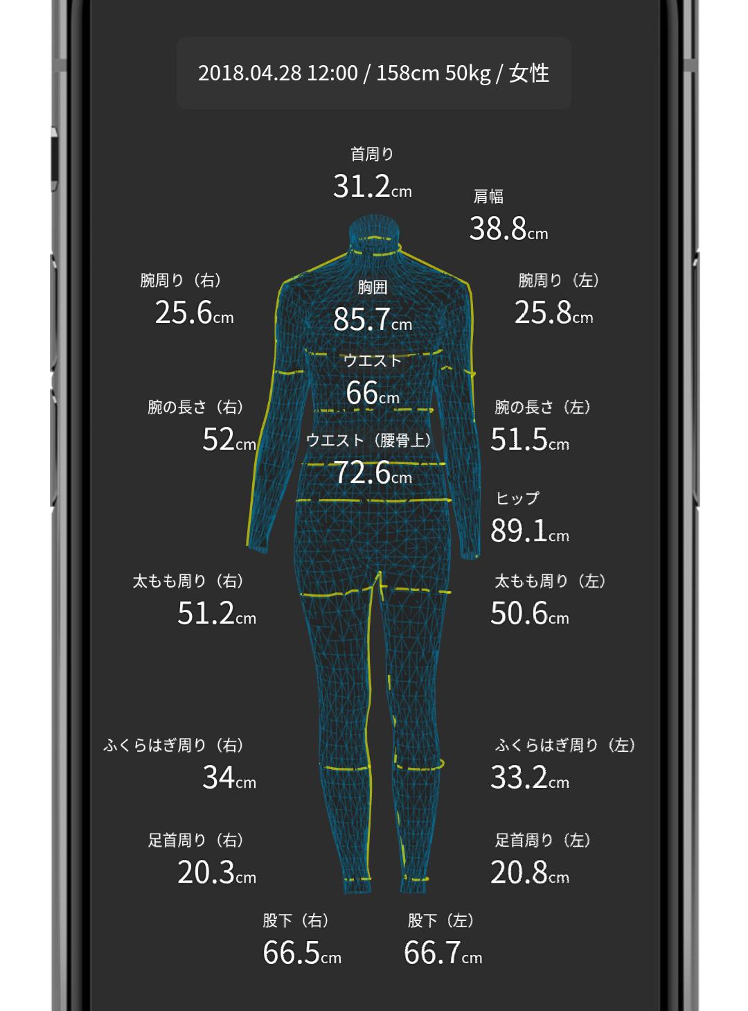 ゾゾスーツ 測定