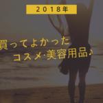 2018年買ってよかったもの【コスメ・美容編】