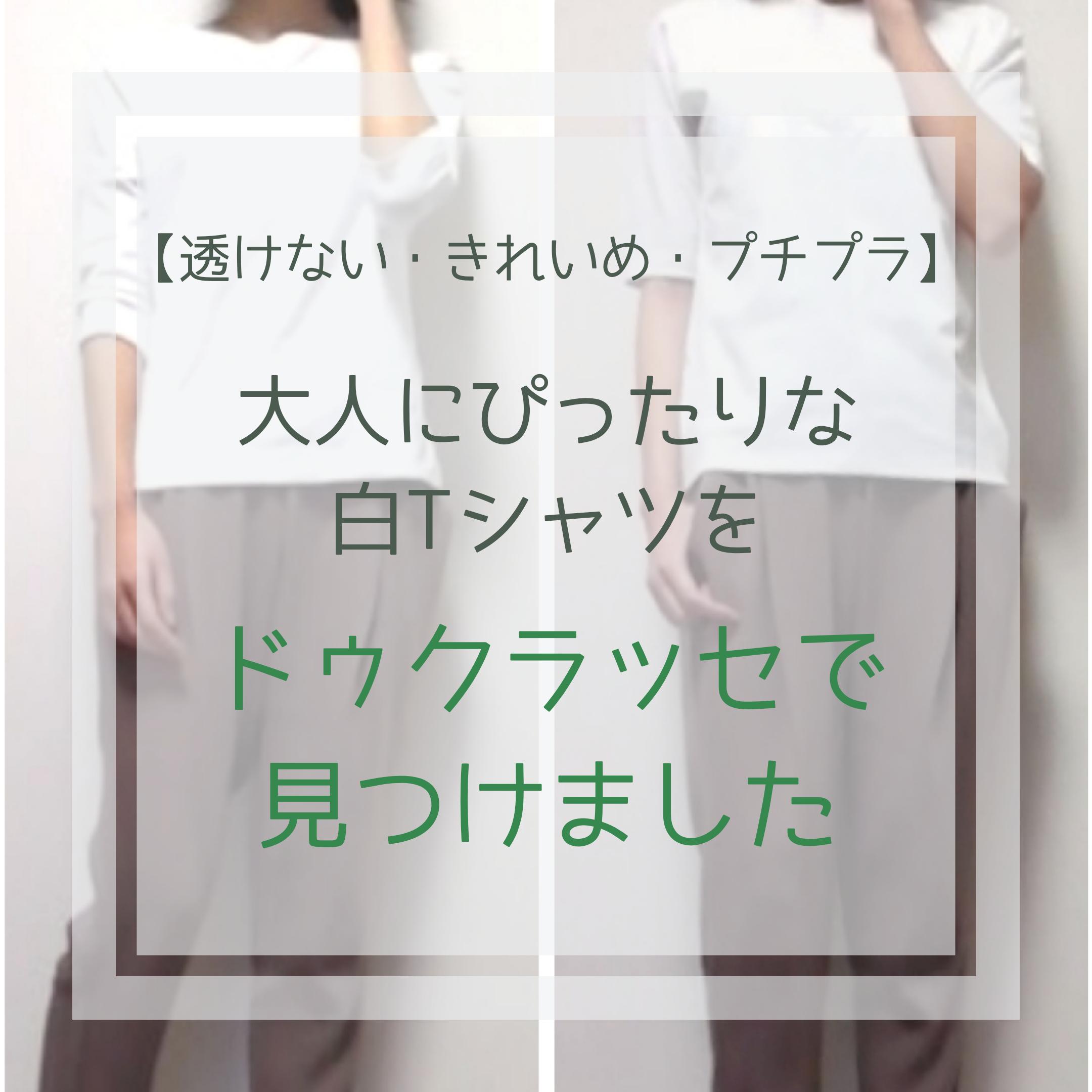 【透けない・きれいめ・プチプラ】大人にぴったりな白Tシャツをドゥクラッセで見つけました☆